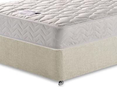 Silentnight Miracoil Sleep 5 King Size Mattress with Executive Barley King Size 0 Drawer Divan Set
