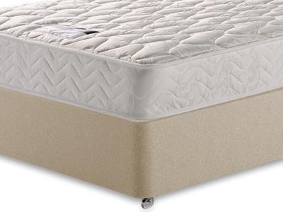 Silentnight Miracoil Sleep 4 6 Double Mattress with Executive Sandstone Double 4 Drawer Divan Set