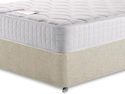 Silentnight Pocket Essentials 1000 3 Single Mattress with Executive Barley Single 0 Drawer Divan Set