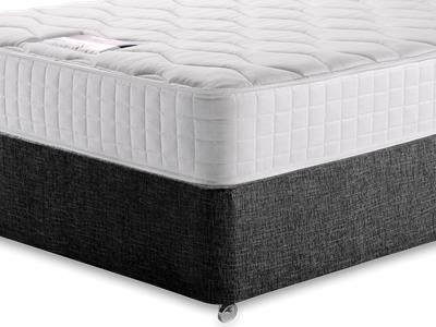 Silentnight Pocket Essentials 1000 5 King Size Mattress with Executive Black King Size No Drawers Divan Set