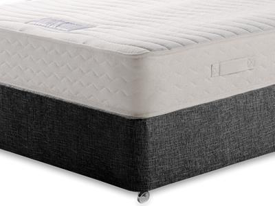 Healthbeds Ltd Luxury Pocket Memory 1200 5 King Size Mattress with Executive Black King Size No Drawers Divan Set