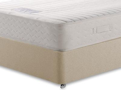 Healthbeds Ltd Luxury Pocket Memory 1200 4 6 Double Mattress with Executive Sandstone Double 0 Drawer Divan Set