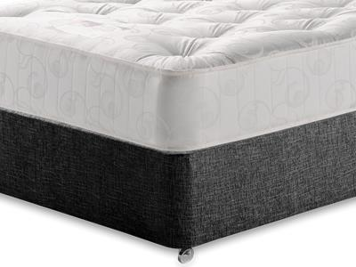 Snuggle Beds Gold Tuft Ortho 5 King Size Mattress with Executive Black King Size No Drawers Divan Set