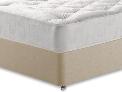Snuggle Beds Gold Tuft Ortho 3 Single Mattress with Executive Sandstone Single 0 Drawer Divan Set