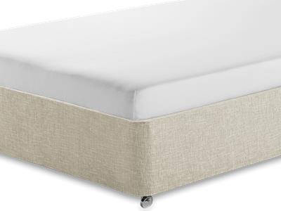 Silentnight Comfortable Foam Sleep 3 Single Mattress with Executive Barley Single 0 Drawer Divan Set
