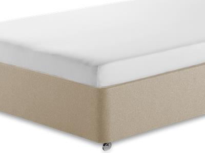Silentnight Comfortable Foam Sleep 4 6 Double Mattress with Executive Sandstone Double 4 Drawer Divan Set