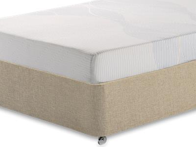 Silentnight Memory 3 Sleep 3 Single Mattress with Classic Mink Single Slide Store Divan Set
