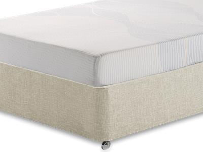Silentnight Memory 3 Sleep 3 Single Mattress with Executive Barley Single 0 Drawer Divan Set