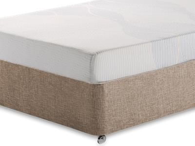 Silentnight Memory 3 Sleep 4 6 Double Mattress with Executive Biscuit Double No Drawers Divan Set