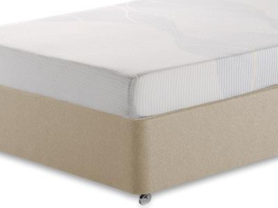 Silentnight Memory 3 Sleep 4 6 Double Mattress with Executive Sandstone Double 4 Drawer Divan Set