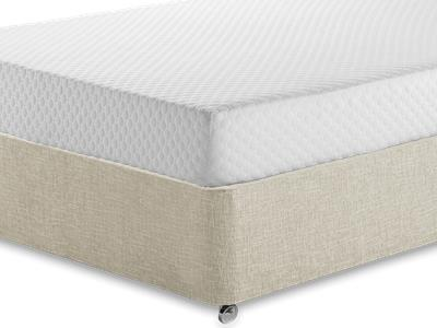 Silentnight Memory 7 Sleep 3 Single Mattress with Executive Barley Single 0 Drawer Divan Set