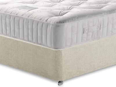 Restopaedic Restapocket 1000 5 King Size Mattress with Executive Barley King Size 0 Drawer Divan Set