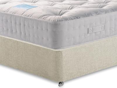 Restopaedic Restapocket 1200 5 King Size Mattress with Executive Barley King Size 0 Drawer Divan Set