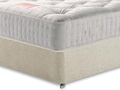 Restopaedic Restapocket 1400 5 King Size Mattress with Executive Barley King Size 0 Drawer Divan Set
