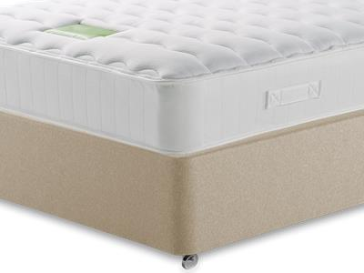 Restopaedic Restaspring Zest 3 Single Mattress with Executive Sandstone Single 0 Drawer Divan Set