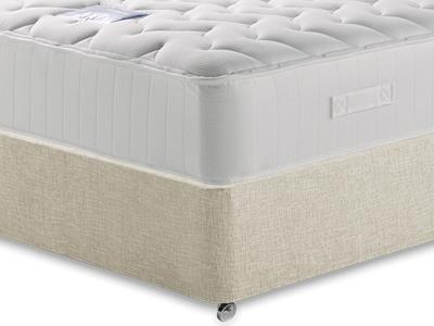 Restopaedic Restapocket 1200 Memory 5 King Size Mattress with Executive Barley King Size 0 Drawer Divan Set