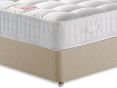British Bed Company The Baron 4 6 Double with Executive Sandstone Double 0 Drawer Divan Set