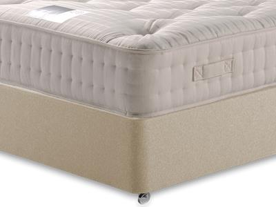 Snuggle Beds New Legend Ortho 2000 4 6 Double Mattress with Executive Sandstone Double 4 Drawer Divan Set