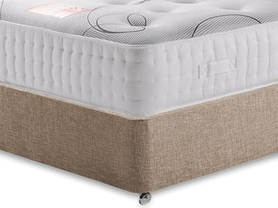 British Bed Company Ortho Cool Memory 2000 4 6 Double with Executive Biscuit Double No Drawers Divan Set