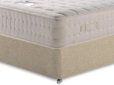 Snuggle Beds New Memory Ortho 2000 3 Single Mattress with Classic Mink Single Slide Store Divan Set