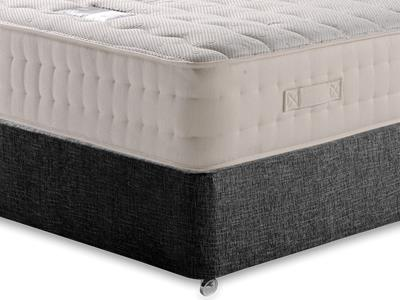 Snuggle Beds New Memory Ortho 2000 5 King Size Mattress with Executive Black King Size No Drawers Divan Set