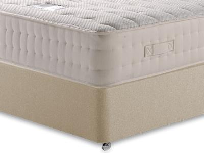 Snuggle Beds New Memory Ortho 2000 4 6 Double Mattress with Executive Sandstone Double 4 Drawer Divan Set