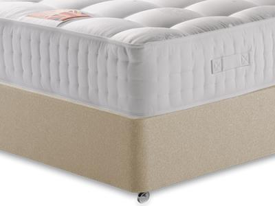 British Bed Company The Viscount 4 6 Double with Executive Sandstone Double 0 Drawer Divan Set