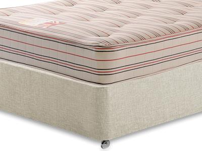 British Bed Company Contract Landlord Memory Tuft 3 Single Mattress with Executive Barley Single 0 Drawer Divan Set