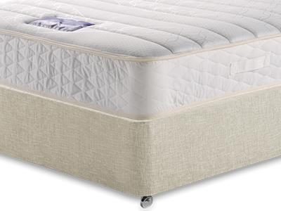 Slumberland Ivory Sleep 5 King Size Mattress with Executive Barley King Size 0 Drawer Divan Set
