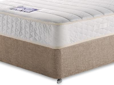 Slumberland Ivory Sleep 4 Small Double Mattress with Executive Biscuit Small Double No Drawers Divan Set