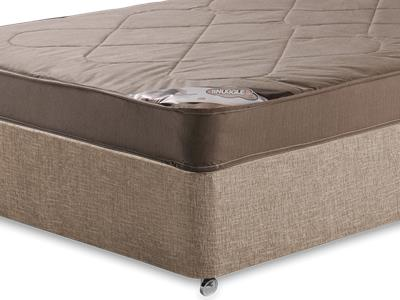Snuggle Beds Snuggle Light 4 Small Double Mattress with Executive Biscuit Small Double No Drawers Divan Set