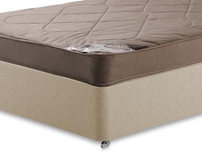 Snuggle Beds Snuggle Light 4 6 Double Mattress with Executive Sandstone Double 4 Drawer Divan Set