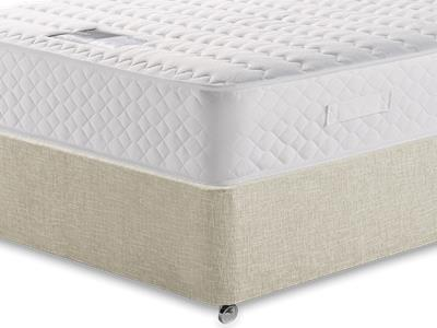 Snuggle Beds Ortho Memory Supreme 2 6 Small Single Mattress with Executive Barley Small Single 0 Drawer Divan Set