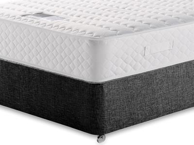 Snuggle Beds Ortho Memory Supreme 5 King Size Mattress with Executive Black King Size No Drawers Divan Set