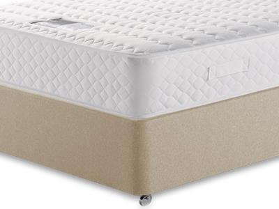 Snuggle Beds Ortho Memory Supreme 4 Small Double Mattress with Executive Sandstone Small Double 4 Drawer Divan Set