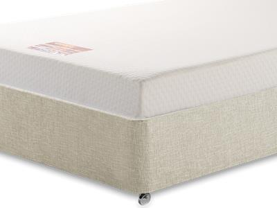 Breasley Bronze Memory 5 King Size Mattress with Executive Barley King Size 0 Drawer Divan Set