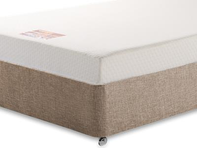 Breasley Bronze Memory 4 Small Double Mattress with Executive Biscuit Small Double No Drawers Divan Set