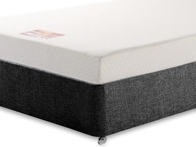 Breasley Bronze Memory 5 King Size Mattress with Executive Black King Size No Drawers Divan Set