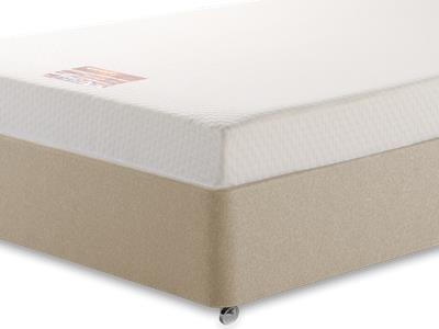 Breasley Bronze Memory 3 Single Mattress with Executive Sandstone Single 0 Drawer Divan Set
