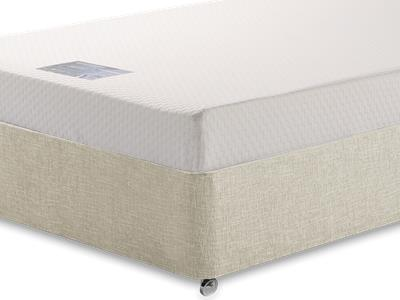 Breasley Silver Memory 3 Single Mattress with Executive Barley Single 0 Drawer Divan Set