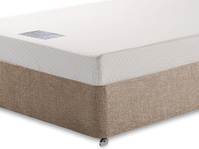 Breasley Silver Memory 4 Small Double Mattress with Executive Biscuit Small Double No Drawers Divan Set