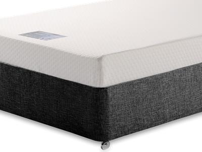 Breasley Silver Memory 5 King Size Mattress with Executive Black King Size No Drawers Divan Set