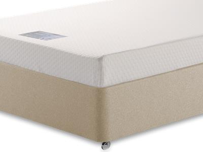 Breasley Silver Memory 3 Single Mattress with Executive Sandstone Single 0 Drawer Divan Set