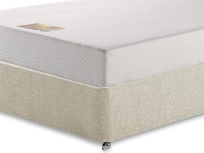 Breasley Gold Memory 3 Single Mattress with Executive Barley Single 0 Drawer Divan Set