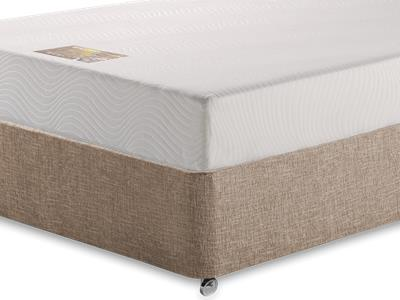 Breasley Gold Memory 4 Small Double Mattress with Executive Biscuit Small Double No Drawers Divan Set