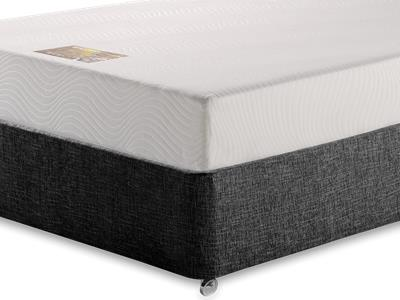 Breasley Gold Memory 5 King Size Mattress with Executive Black King Size No Drawers Divan Set