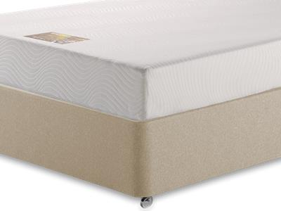Breasley Gold Memory 6 Super King Mattress with Executive Linked Sandstone Super King 4 Drawer Divan Set