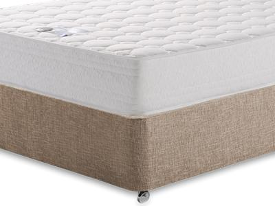 Breasley Platinum Deluxe Memory 4 Small Double Mattress with Executive Biscuit Small Double No Drawers Divan Set