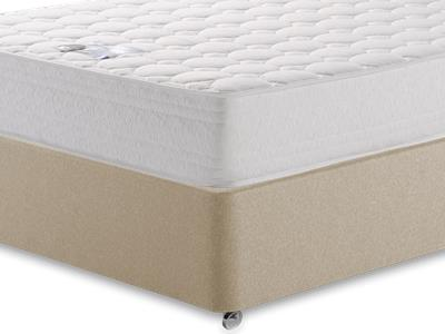 Breasley Platinum Deluxe Memory 4 6 Double Mattress with Executive Sandstone Double 0 Drawer Divan Set
