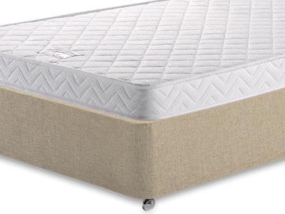 Birlea Comfort Care 3 Single Mattress with Classic Mink Single Slide Store Divan Set